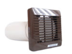 100mm Wall Vent Kit (Brown) by Vent Axia