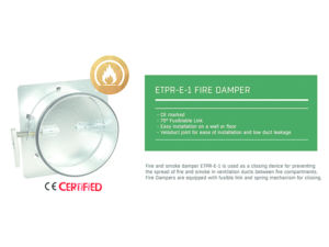 Flakt Woods ETPR-E-1-125-01-0 Fire Damper also known as MFD & ETPR-17