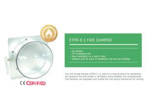 Flakt Woods ETPR-E-1-200-01-0 Fire Damper also known as MFD & ETPR-17